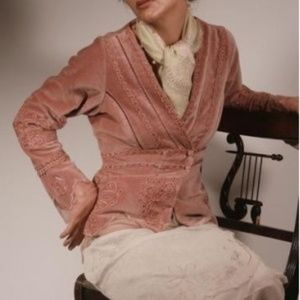 Vintage Inspired Nataya Age of Love Mauve Jacket
